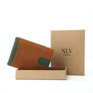 NLV Classic Men's Leather Wallet Billfold RFID